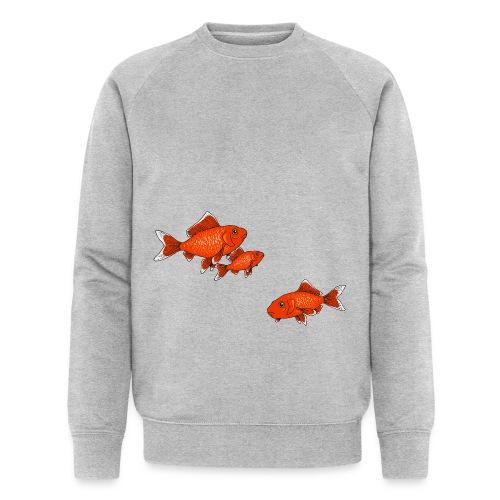 Poissons rouges - Sweat-shirt bio