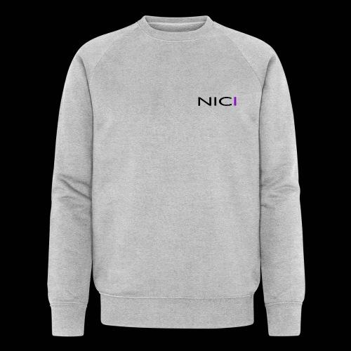 NICI logo Black - Stanley & Stellan miesten luomucollegepaita