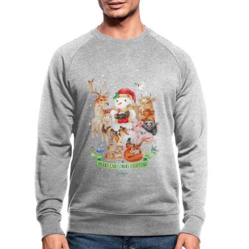 vegan-christmas-green - Men's Organic Sweatshirt