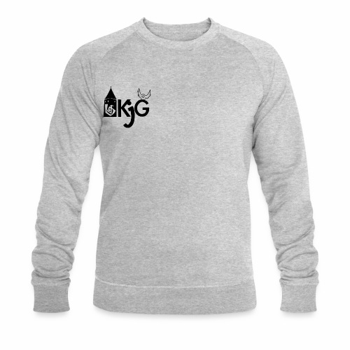 klassisches KjG Pulli Design in schwarz - Männer Bio-Sweatshirt
