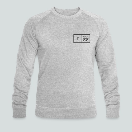 Logo dunkel 2x - Männer Bio-Sweatshirt