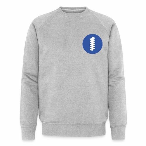logomark in circular blue - Men's Organic Sweatshirt by Stanley & Stella