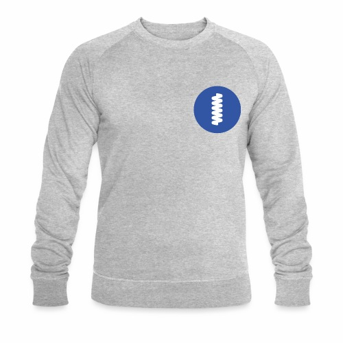 logomark in circular blue - Men's Organic Sweatshirt