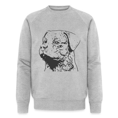Rottweiler Portrait Grafik schwarz - Männer Bio-Sweatshirt von Stanley & Stella