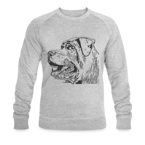 Rottweiler Mund offen schwarz - Männer Bio-Sweatshirt von Stanley & Stella