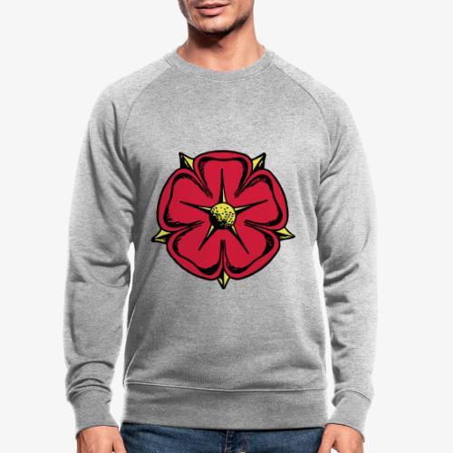 Lippische Rose - Männer Bio-Sweatshirt