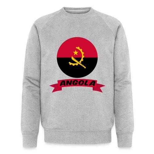 flag of Angola t shirt design ribbon banner - Felpa ecologica da uomo di Stanley & Stella