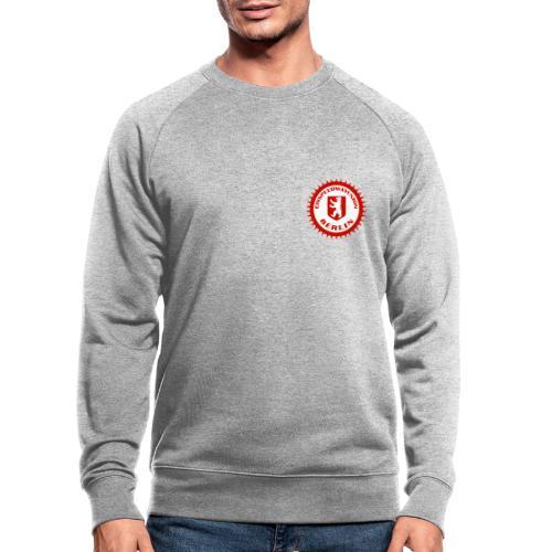Logo in Rot Weiß - Männer Bio-Sweatshirt