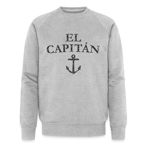 El Capitan Anker (Vintage Schwarz) Kapitän Käpt'n - Männer Bio-Sweatshirt von Stanley & Stella
