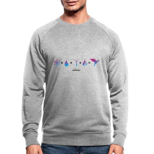 Humanisten Formel: Energie - Männer Bio-Sweatshirt