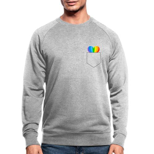 Hjerte LGBTQ - Økologisk sweatshirt til herrer