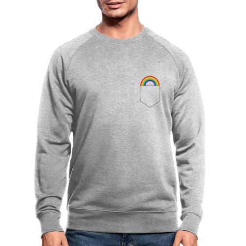 Lomme regnbue - Økologisk sweatshirt til herrer