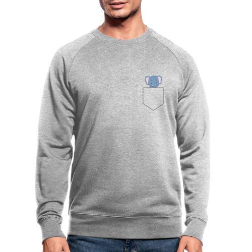 Lomme Elefant - Økologisk sweatshirt til herrer
