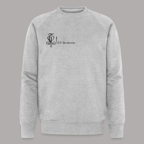 Zirkel mit Name, schwarz (vorne) - Männer Bio-Sweatshirt von Stanley & Stella
