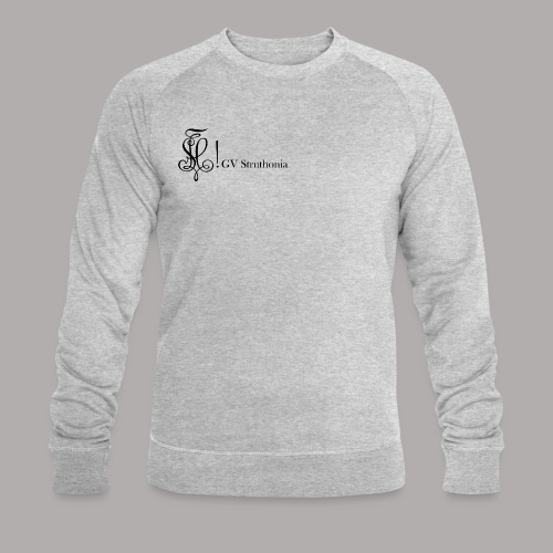 Zirkel mit Name, schwarz (vorne) - Männer Bio-Sweatshirt