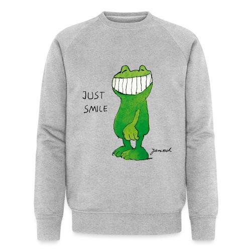 Janoschs Günter Kastenfrosch Just Smile - Männer Bio-Sweatshirt von Stanley & Stella