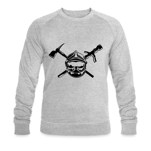 casque_pompier_hache et lance - Sweat-shirt bio Stanley & Stella Homme