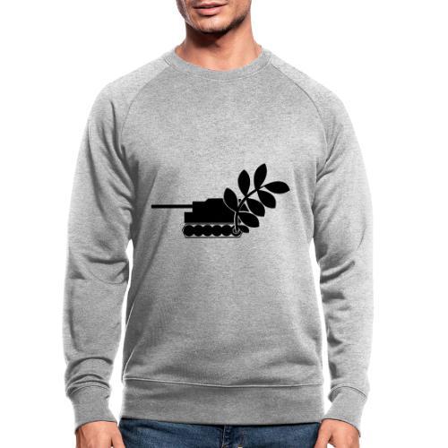 Global Campaign on Military Spending - Logo gray - Men's Organic Sweatshirt by Stanley & Stella