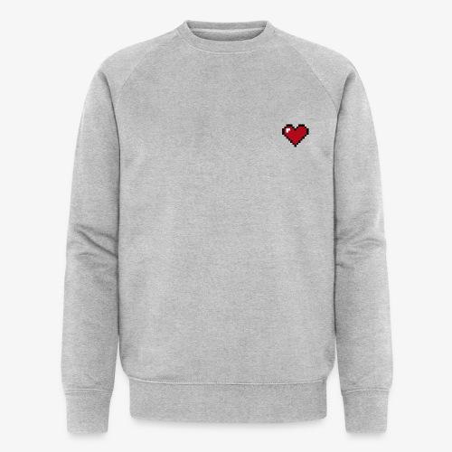 Pixel heart - Sweat-shirt bio