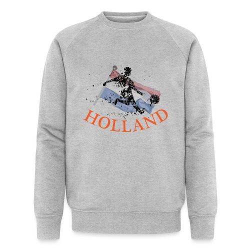 HOLLANDSE VLAG MET VOETBALLER in ACTIE - Mannen bio sweatshirt van Stanley & Stella