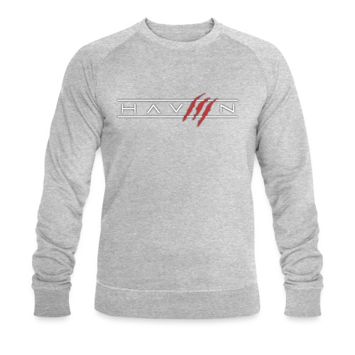 Logo Wit - Mannen bio sweatshirt van Stanley & Stella