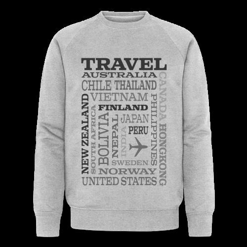 Travel Places Gray design - Stanley & Stellan miesten luomucollegepaita