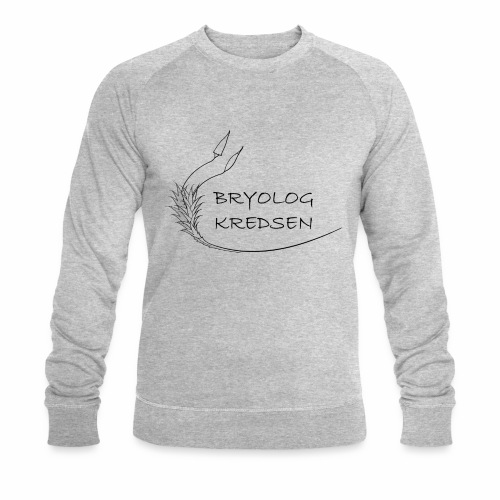 Bryologkredsen - sort logo - Økologisk sweatshirt til herrer