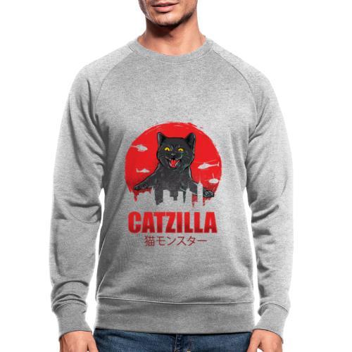 Catzilla Katzen Horror B-Movie Parodie - Männer Bio-Sweatshirt