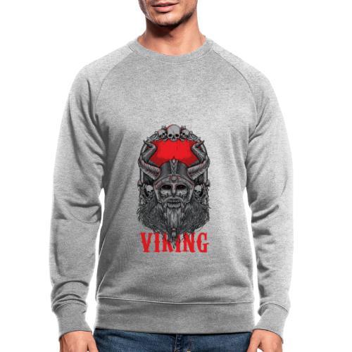 Viking T Shirt Design red - Miesten luomucollegepaita