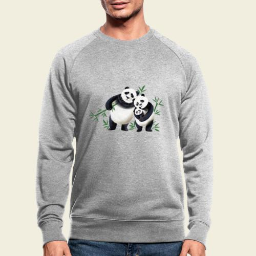 Pandafamilie Baby - Männer Bio-Sweatshirt