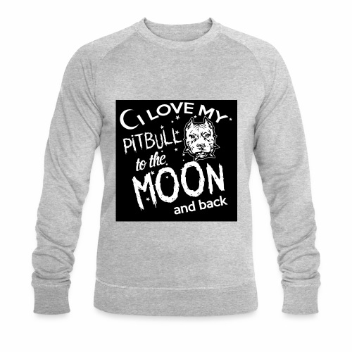 Pitbull to the moon - Sweat-shirt bio