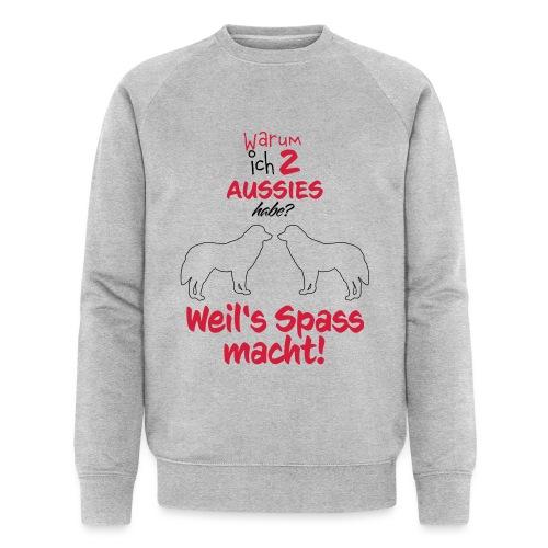 2 Aussies weilsSpass macht - Männer Bio-Sweatshirt von Stanley & Stella