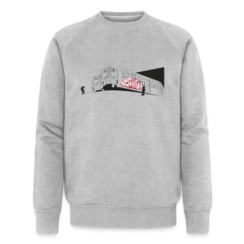 Throw up graffiti trains - 2wear Classics - Økologisk sweatshirt til herrer