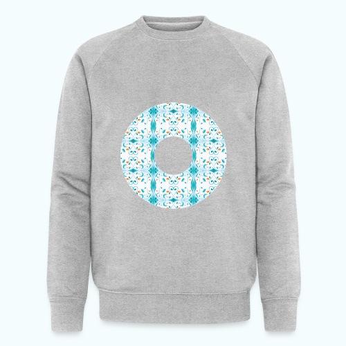 Hippie flowers donut - Men's Organic Sweatshirt by Stanley & Stella