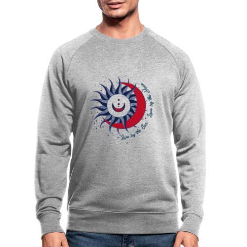 Sonne Mond Design Live by the sun Love by the moon - Männer Bio-Sweatshirt