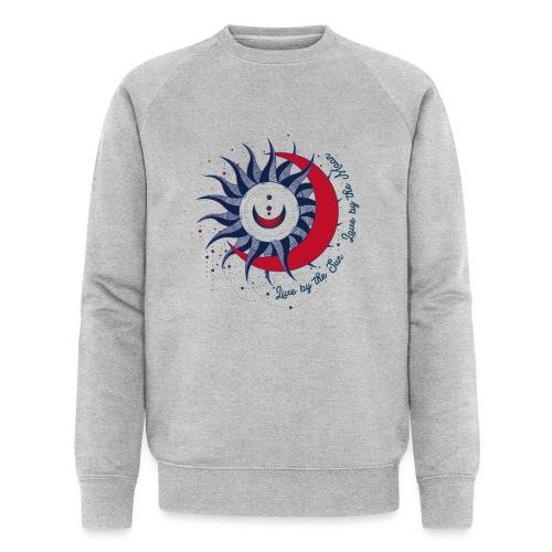 Sonne Mond Design Live by the sun Love by the moon - Männer Bio-Sweatshirt von Stanley & Stella