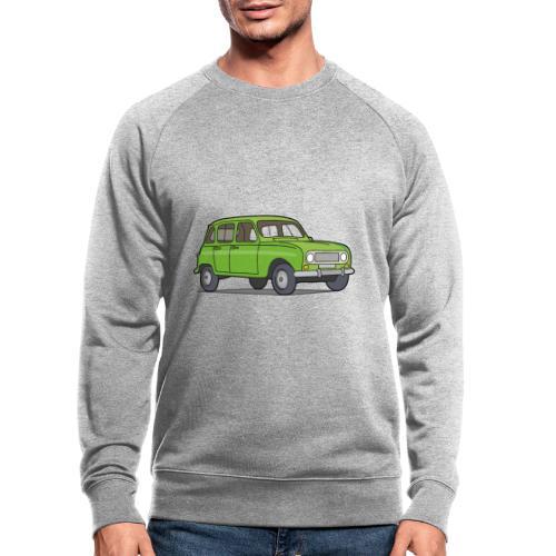 Grüner R4 (Auto) - Männer Bio-Sweatshirt