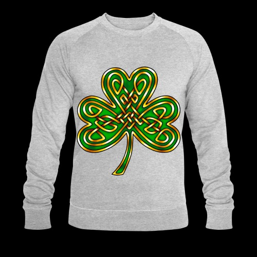 Celtic Knotwork Shamrock - Men's Organic Sweatshirt by Stanley & Stella