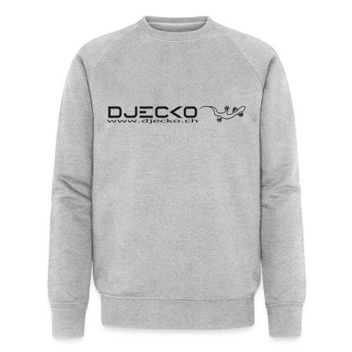 Logo rect noir txt et gecko - Sweat-shirt bio Stanley & Stella Homme