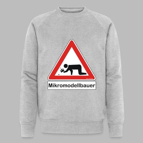 Warnschild Mikromodellbauer Auto - Männer Bio-Sweatshirt
