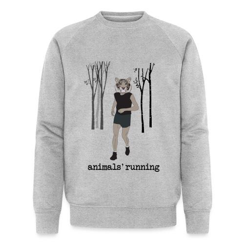 Tigre gris running - Sweat-shirt bio Stanley & Stella Homme