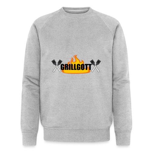 Grillgott Meister des Grillens - Männer Bio-Sweatshirt