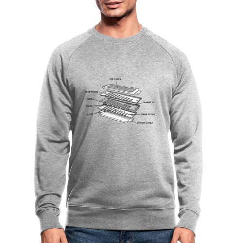 Exploded harmonica - black text - Men's Organic Sweatshirt