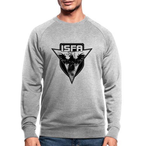 isfa logo 1c schwarz - Männer Bio-Sweatshirt