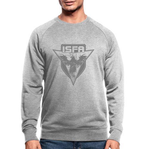 isfa logo 1c grau - Männer Bio-Sweatshirt