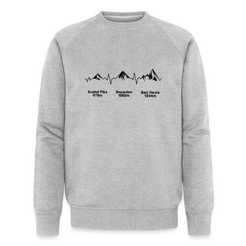 ECG Thee Peaks Light Background - Men's Organic Sweatshirt by Stanley & Stella