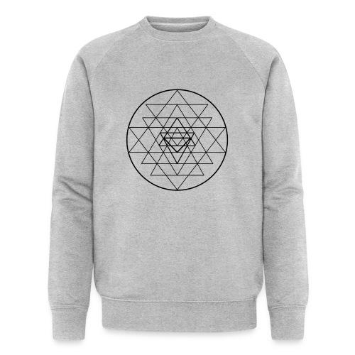 Sri Yantra - black and white - Økologisk Stanley & Stella sweatshirt til herrer