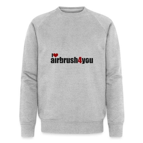 I Love airbrush4you - Männer Bio-Sweatshirt