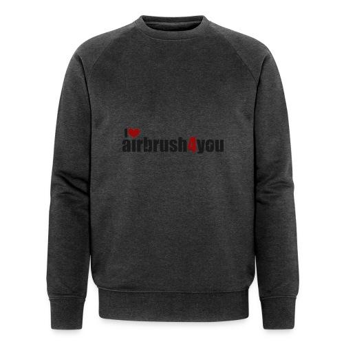 I Love airbrush4you - Männer Bio-Sweatshirt von Stanley & Stella