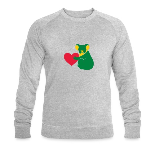 Koala Heart - Men's Organic Sweatshirt by Stanley & Stella